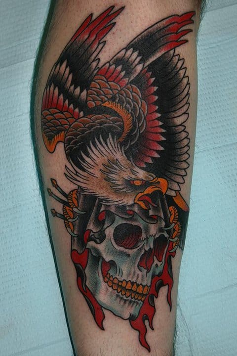 Love this eagle and skull piece!