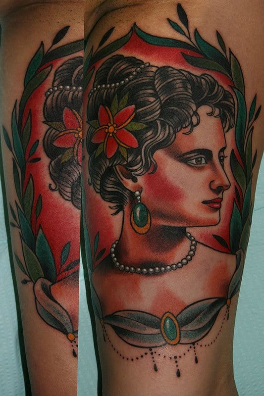 tattoo in neo-traditional style by Stefan Johnsson