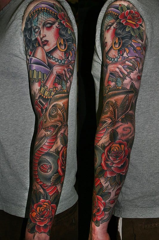 Some awesome sleeve work