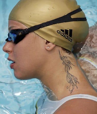 Italian swimmer Federica Pellegrini is record holder and Olympic champion
