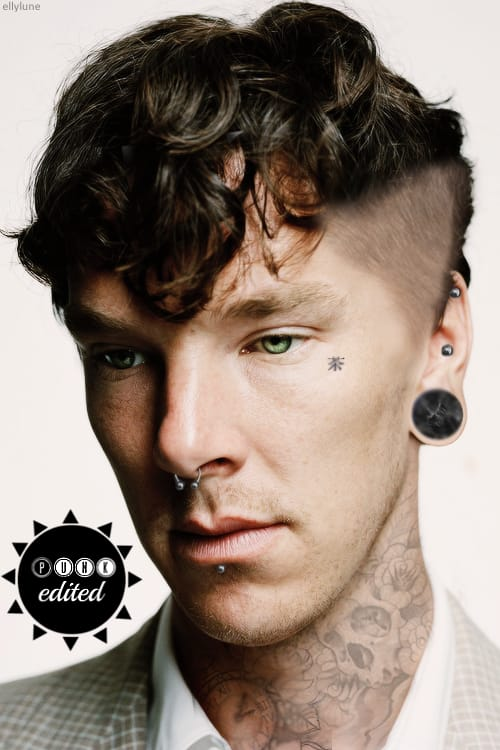 Tattooed Benedict Cumberbatch would drive the fans hysterical.