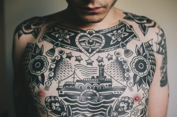 25 Traditional Black And Grey Tattoos Tattoodo