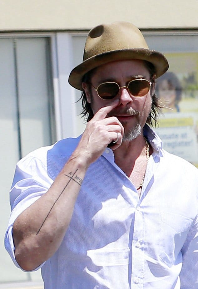 What Could Be the Story Behind Brad Pitt's New Tattoo?