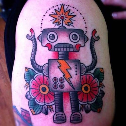 18 Quirky Robot Tattoos