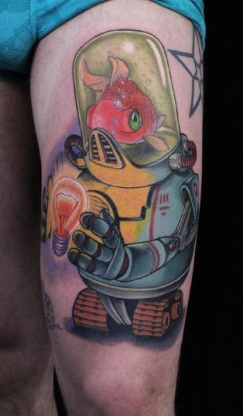 Fantasy Fish Robot Tattoo by Ed Perdomo