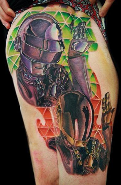 Kick-ass tattoo by Cecil Porter