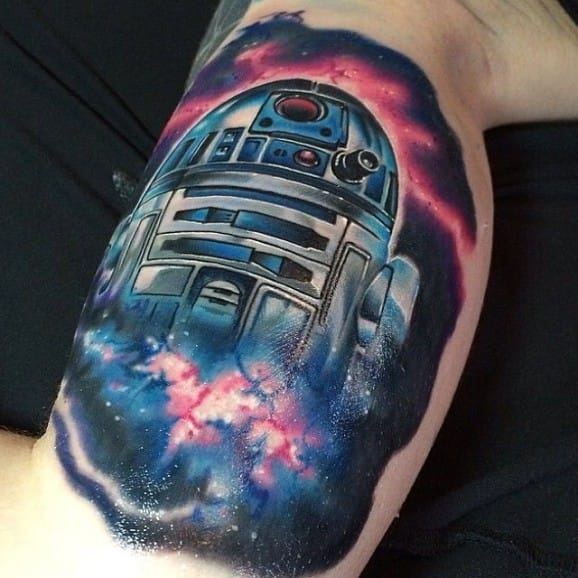 Incredible R2-D2 Tattoo by Mike Johnston