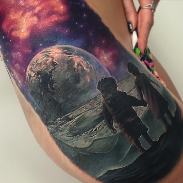 Kaleidoscopic tattoo