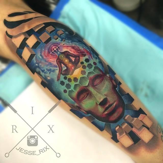 3D Tattoo by Jesse Rix