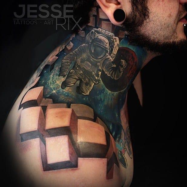 The 3D cube effect of Jesse Rix again.
