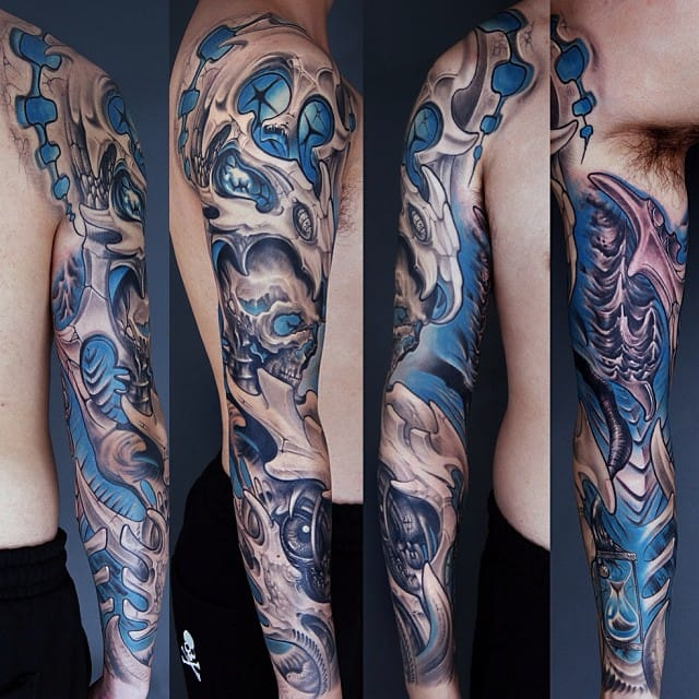 Biomechanical works with 3D effect too. By Zhen Cang too.