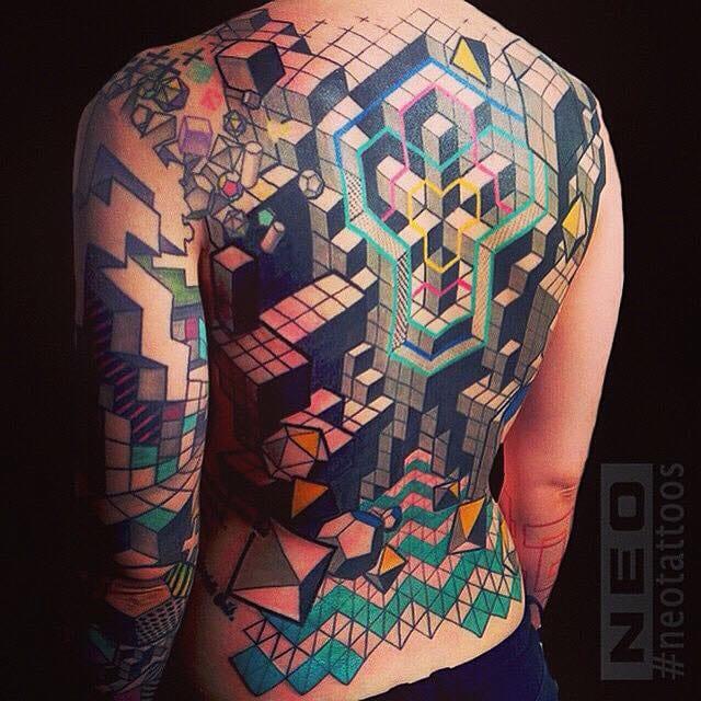 A 3D effect geometry backpiece by Neo.
