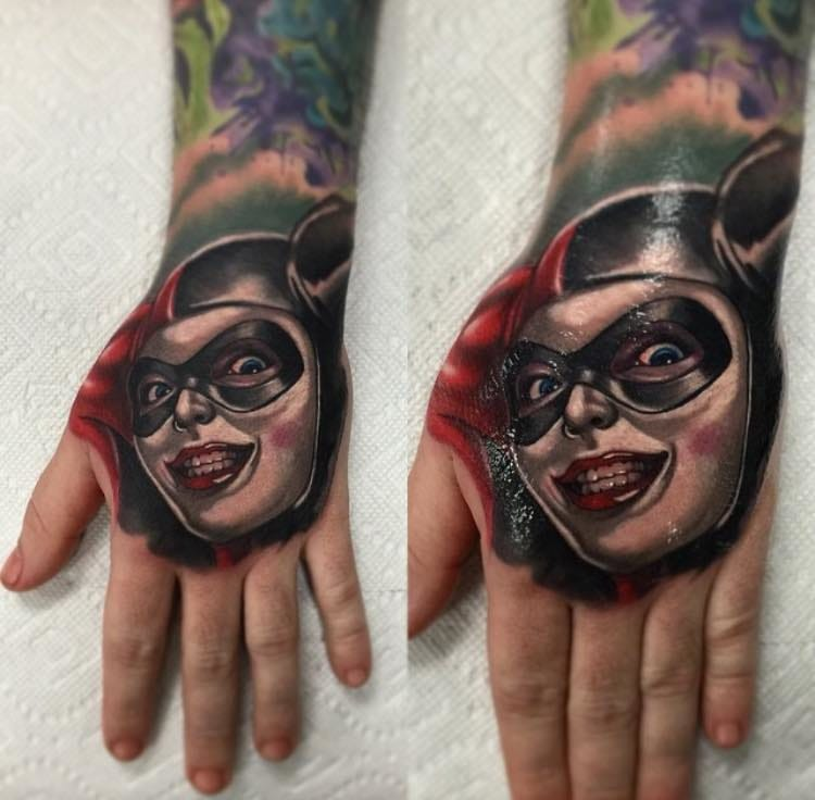 Cool hand tattoo by Audie Fulfer Jr...