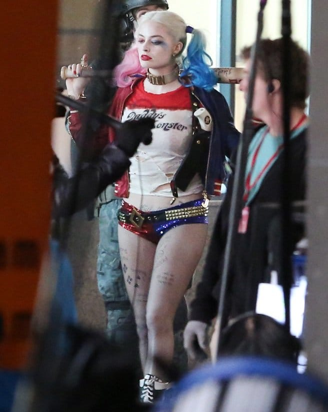 Tattooed Harley Quinn in movie Suicide Squad, played by Margot Robbie. Who else can't wait??? Harley Quinn tattoos