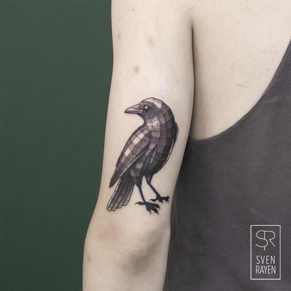 Rayen bird tattoo