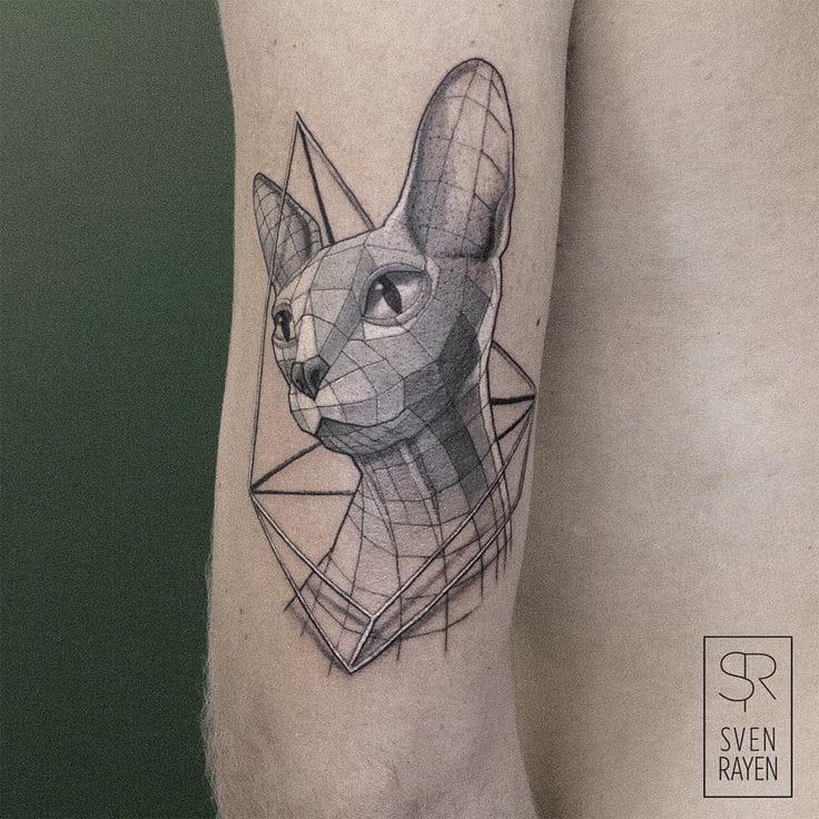 Rayen cat tattoo