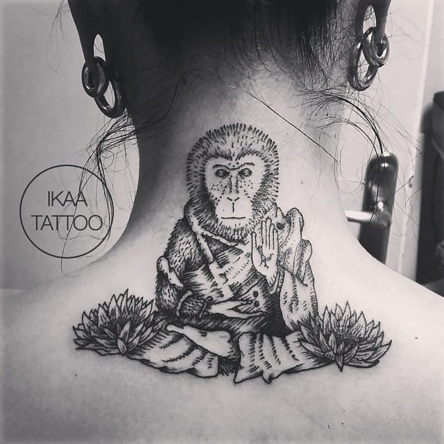 Meditative monkey by Ikaa.