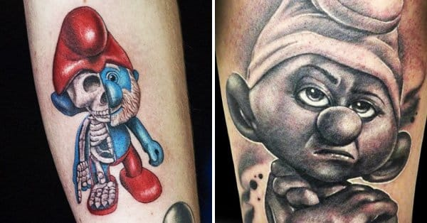 are these smurf tattoos crazy or smurftastic tattoodo. Black Bedroom Furniture Sets. Home Design Ideas