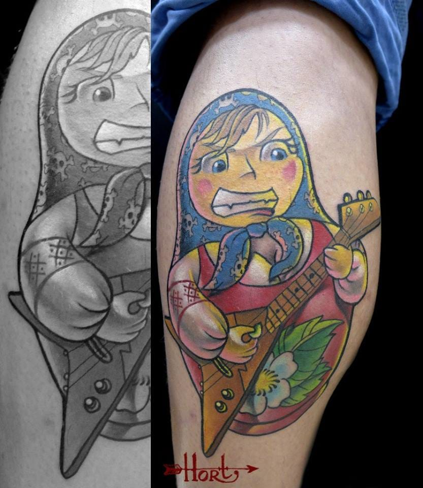 20 Awesome Russian Doll Tattoos