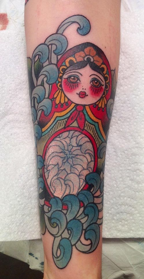 Lovely neo traditional one by Alix Gé.