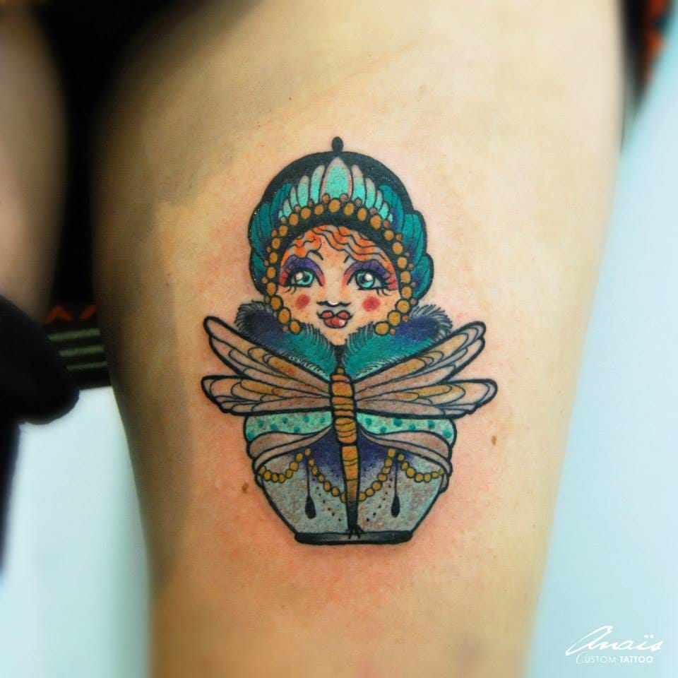 Fancy tattoo by Anais Allnt.