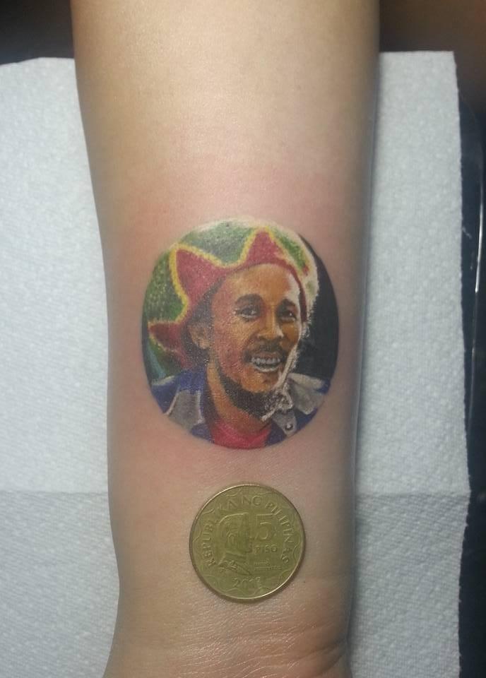Bob Marley by Jo Espiritu Tattoo, Philippines.