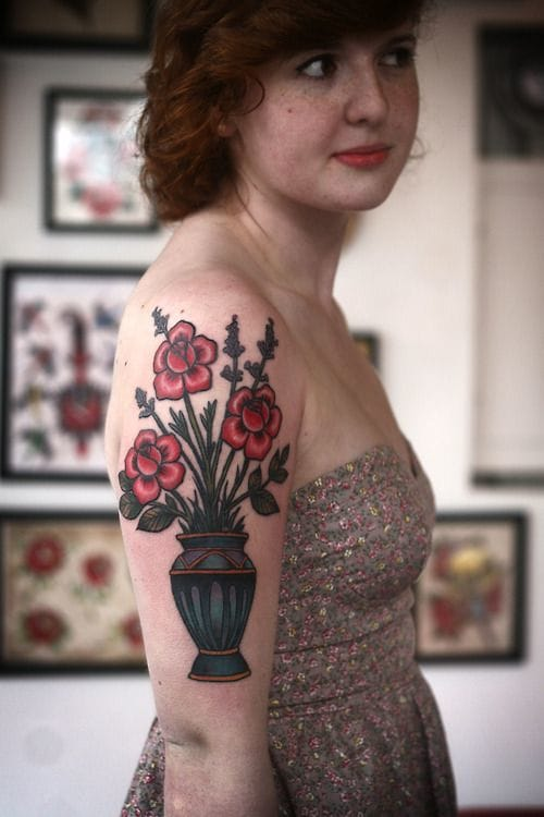 A stylish tattoo by Alice Carrier