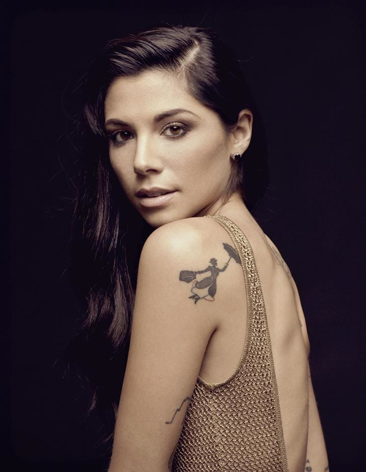 Singer Christina Perri has got a tiny Mary Poppins silhouette tattoo.