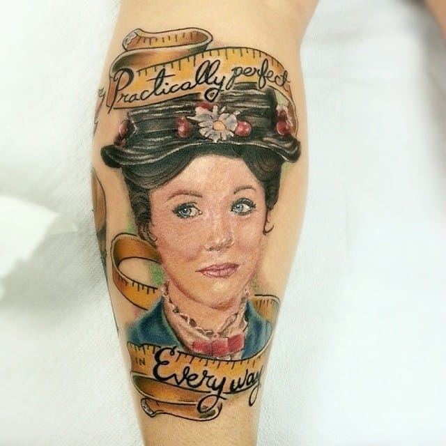Mary Poppins tattoos by Kris Notch