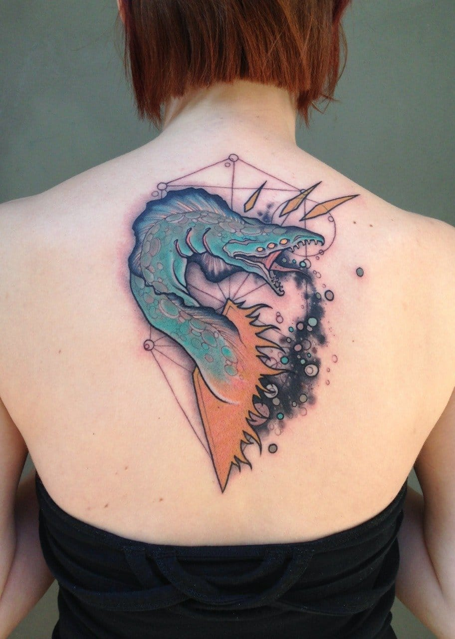 Epic tattoo with an odd creature!