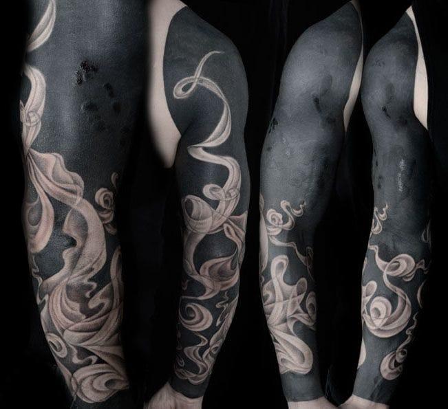 Blackwork sleeve by Jonni Breeze