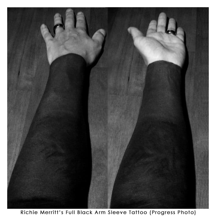 Full black arm sleeve