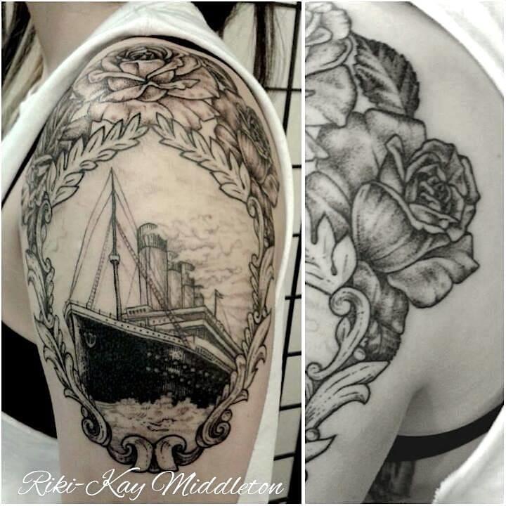 Lovely Titanic Tattoo by Riki-Kay Middleton