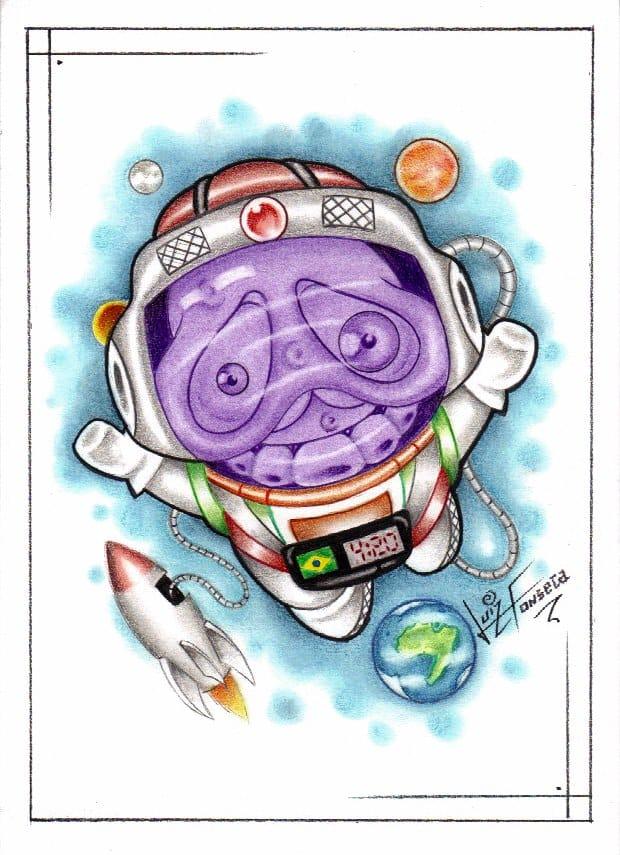 O astronauta de mármore! Hahahaha