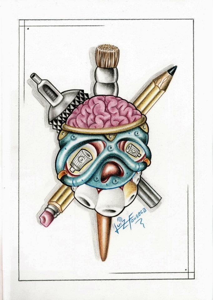 Representação da arte que Fonsecart faz, desenho, tatuagem e graffiti!