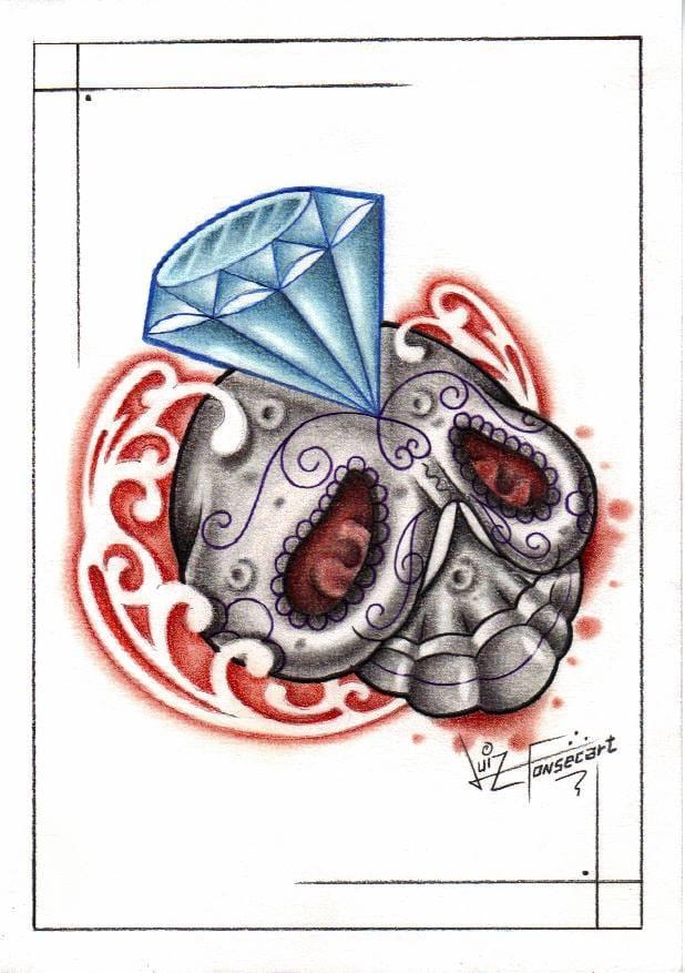 Diamantes e tatuagem, combinação linda!