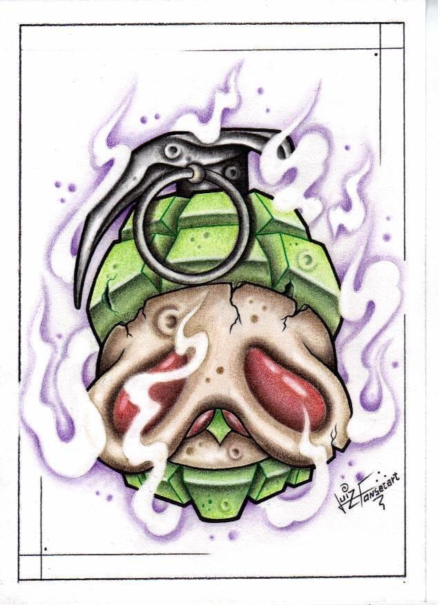 Olha ai a caveira-granada! BOOM!!!