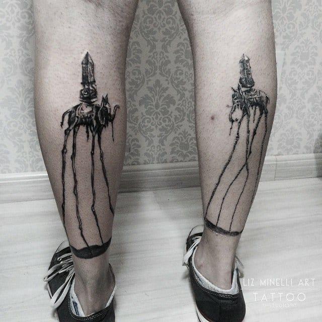 Magníficas tatuagens inspiradas na arte de Salvador Dalí