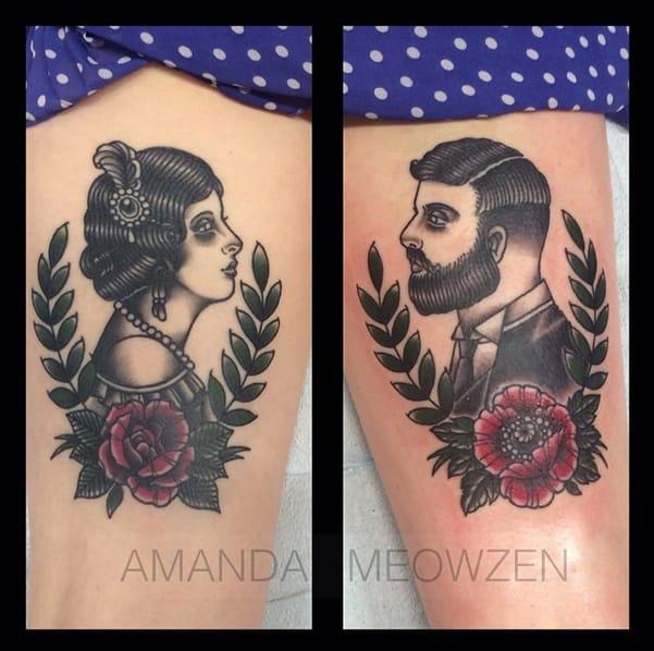 Awesome leg pieces by Amanda Meowzen