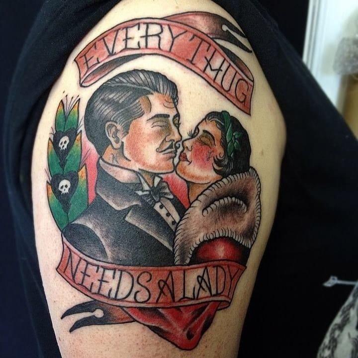A stylish tattoo by Matt Craven Evans