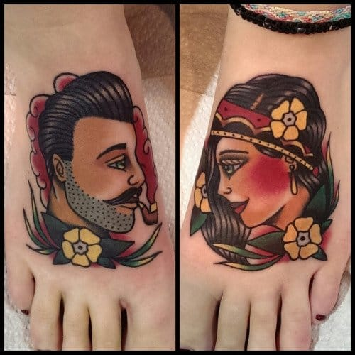 Lovely tattoos by Nick Whybrow