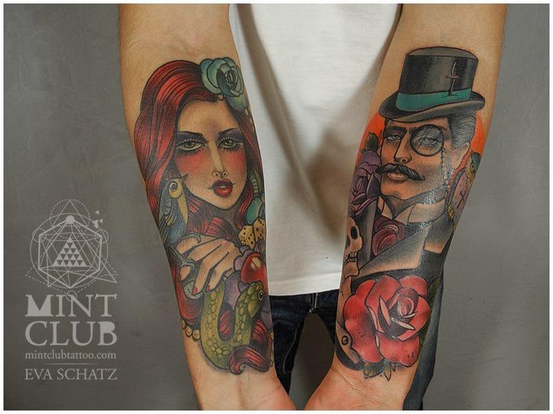 Another great tattoo by Eva Schatz