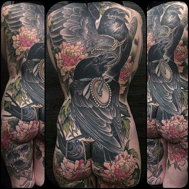 Badass crows backpiece...