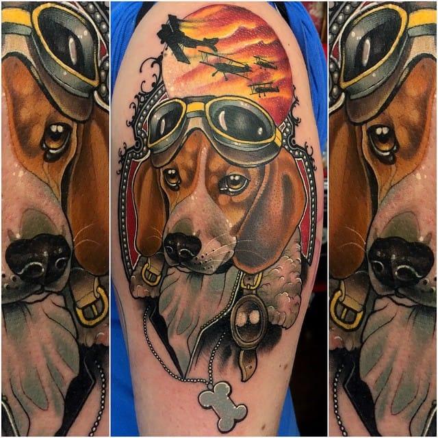 Adorable aviator dog...