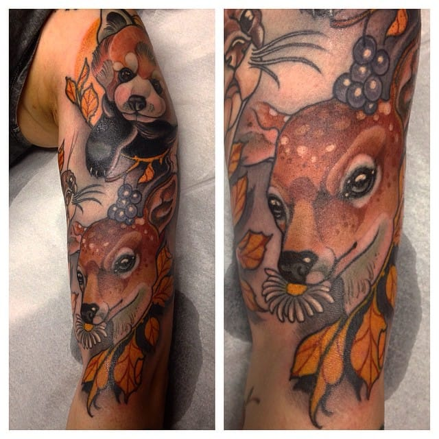 A sleeve of cute animals.