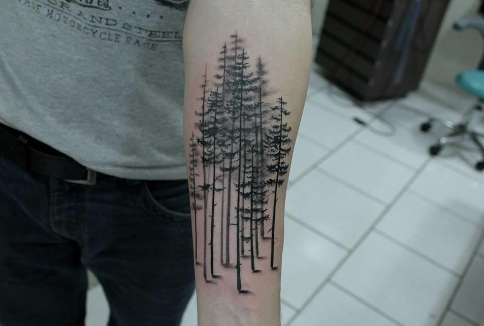 Tatuagem em Black Work
