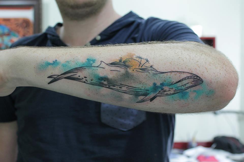 Baleia em aquarela!