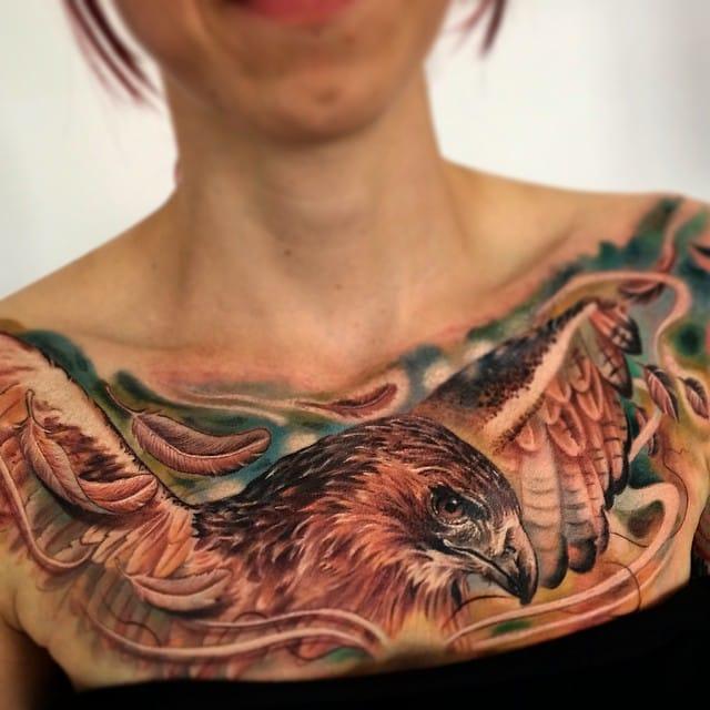 Fantastic eagle chestpiece...