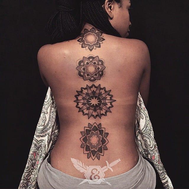 Lovely mandalas on the spine...