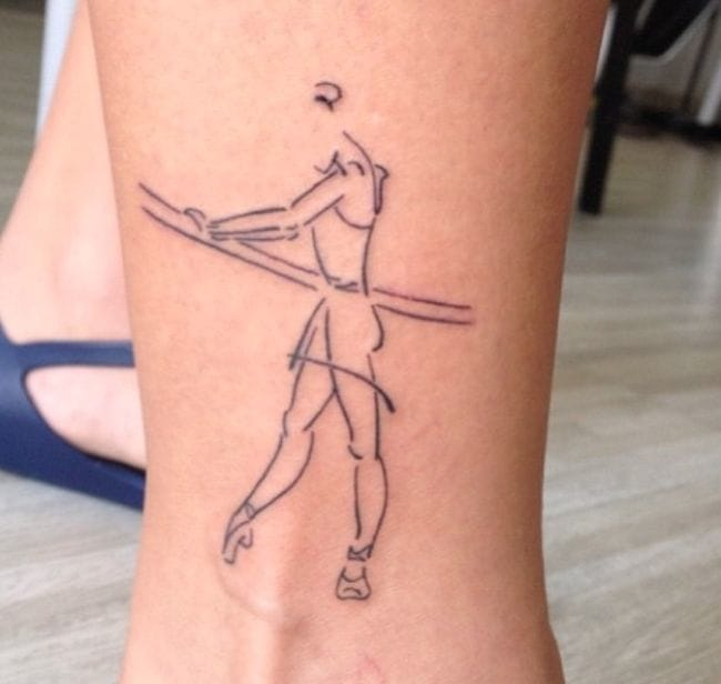 Get design that inspires you to be active like this great ballet tattoo!!